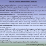 Steps for Dealing with a Tantrum