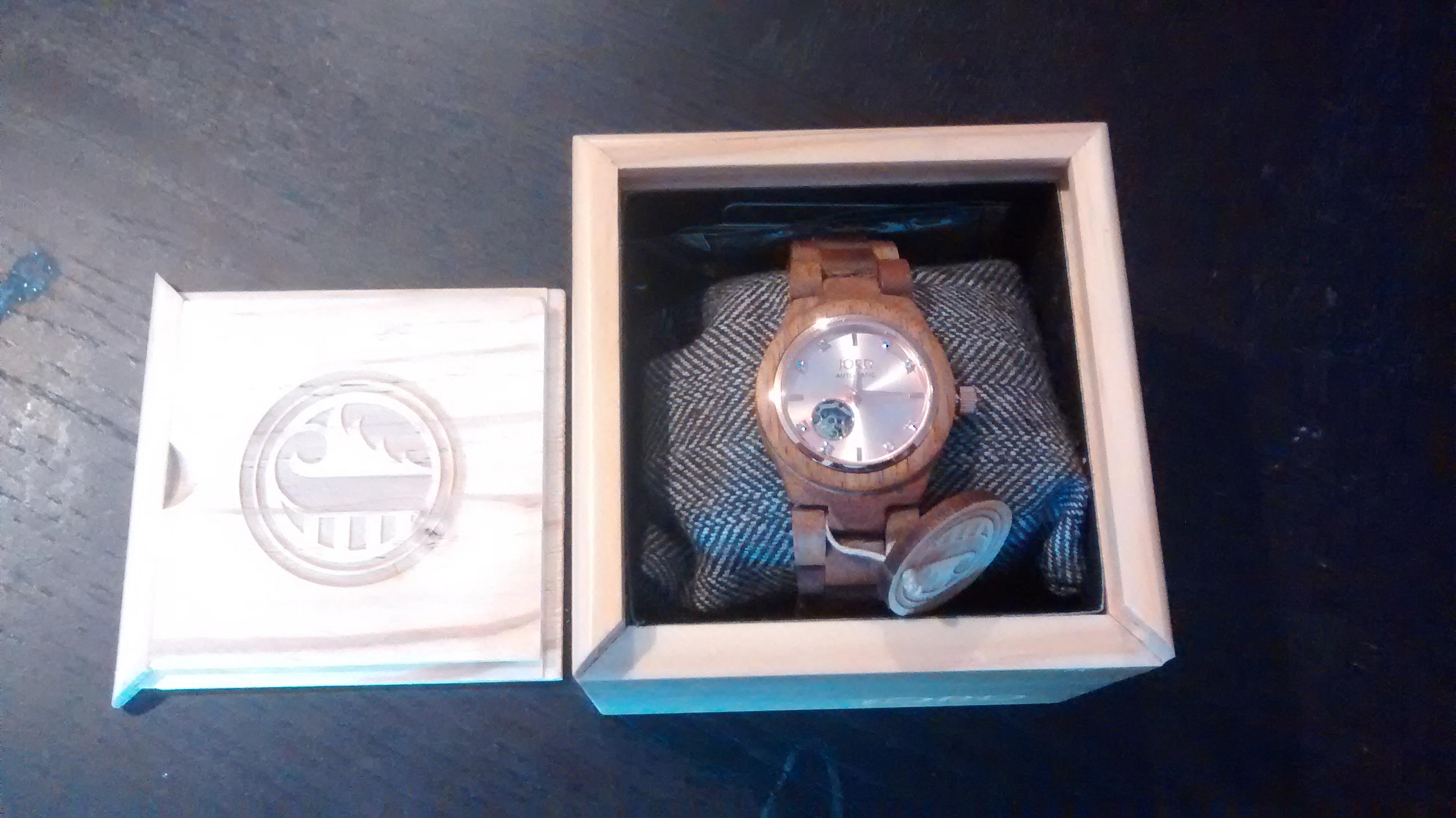 Koa and Rose Gold JORD Wood Watch